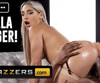 Brazzers - Abella Danger In A Garter Belt, Stockings, Takes Isiah Maxwells Bbc