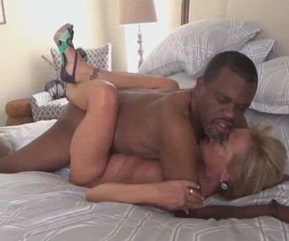 Sexy Blonde Granny With Bbc Big Dick